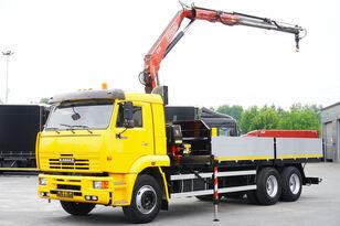бортовой грузовик КАМАЗ 65117 , 6x4 , Crane Fassi 95 , rotator , box 6m