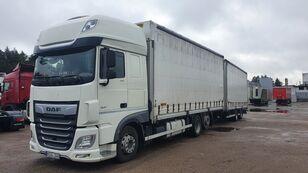 грузовик штора DAF 480 + прицеп штора
