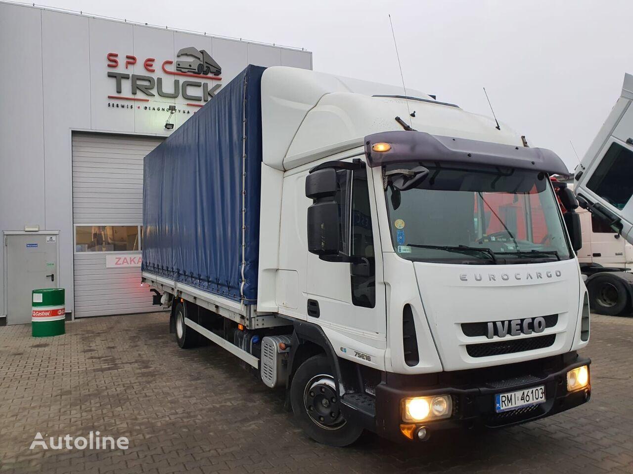 тентованный грузовик IVECO EuroCargo ML 75E18, Full Steel, Manual