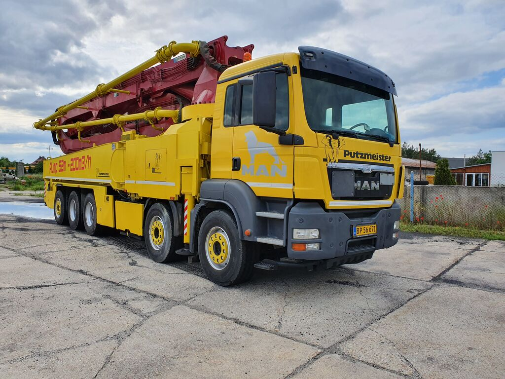 автобетононасос MAN 50.480 10x4 pump 52m. euro 4. 2008year, 200m3/h.